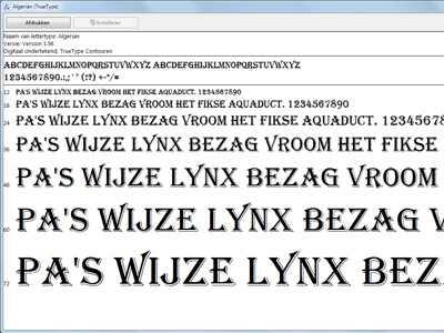 Extra lettertypes in Windows 7